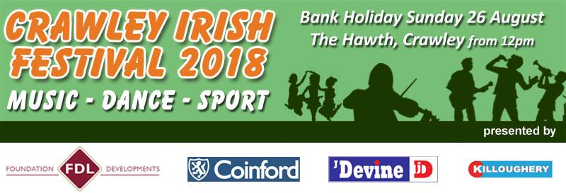 Crawley Irish Festival Banner