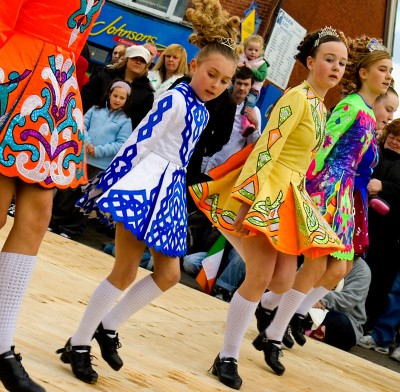 Irish Dancing in the Town Centre