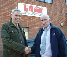 Bob Martin (CICS Chairman) with Lenny Nugent (MD of Nugent Group)