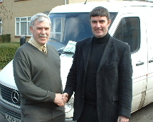 Bob Martin (CICS Chair) with Oliver O'Farrell (MD)