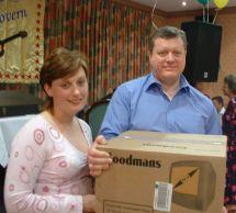 Raffle Winners Paula and Steve Melhuish