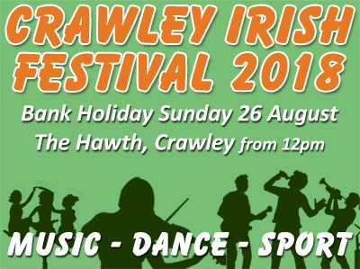 2018 Crawley Irish Festival Logo