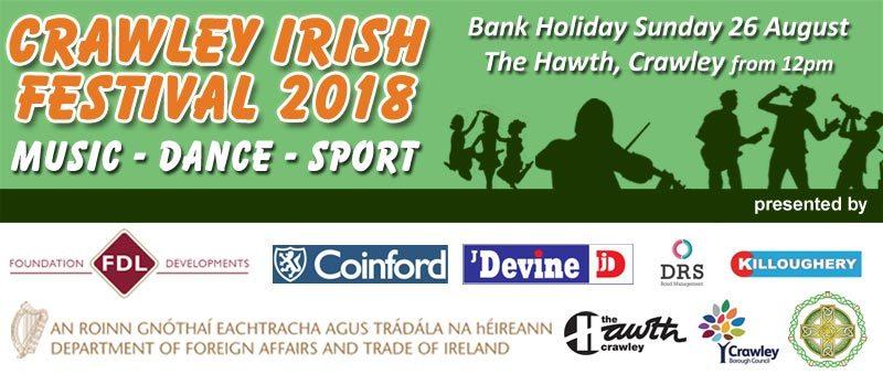 2018 Crawley Irish Festival Banner