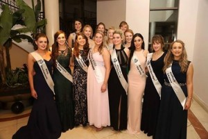 Aisling with the other 13 girls at the London Selection Night in The Crown