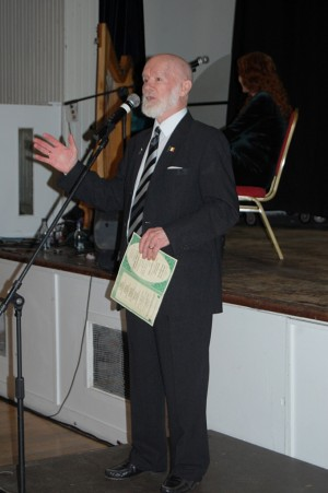Bill Aulsberry at the Haringey Irish Centre