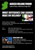 BRIGHTON IRISH NIGHT AT THE LABOUR PARTY CONFERENCE 22nd September