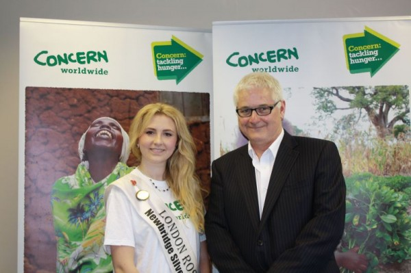 Grace with Brian O'Connell, Special Projects manager Concern Worldwide (UK)