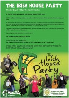 SPECIAL ANNOUNCEMENT on the forthcoming 18th ANNUAL CRAWLEY IRISH FESTIVAL including 'Special Discount Offer' on tickets for The Irish House Party show at The Hawth Theatre.