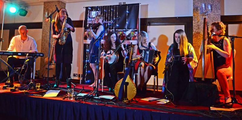 The London Lasses and Chris O'Malley are topping the bill on the Traditional Stage
