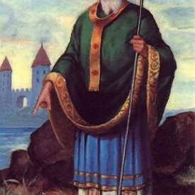 Saint Patrick - who is said to have driven serpents from Ireland